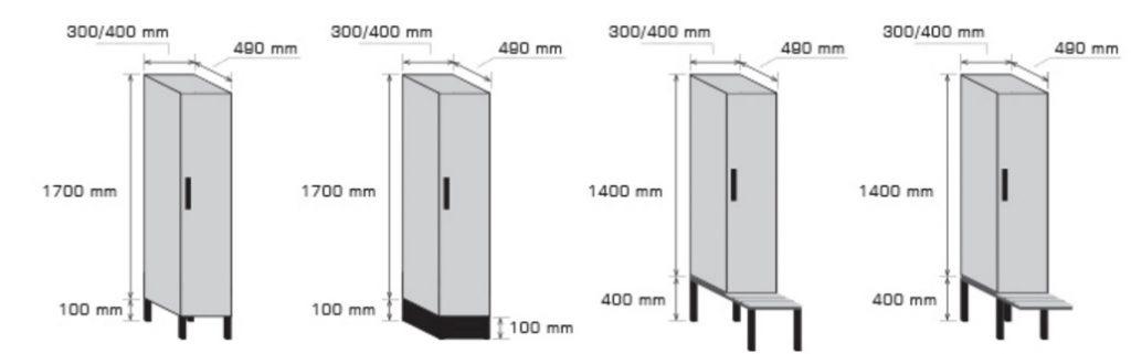 Standardmasse Garderobenschränke